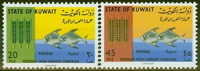 Kuwait 1966 Freedom From Hunger set of 2 SG305-306 V.F MNH