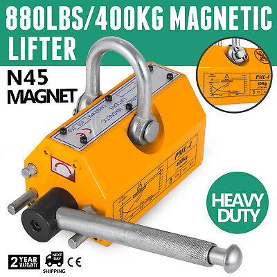 880Lbs 400KG Steel Magnetic Lifter Easy Operation Steel Sheets Yellow
