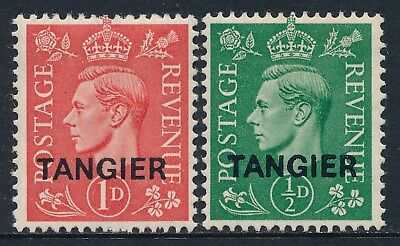 1944 Tangier Overprint Pale Colours Set Of 2 Mint Hinged Sg251-Sg252