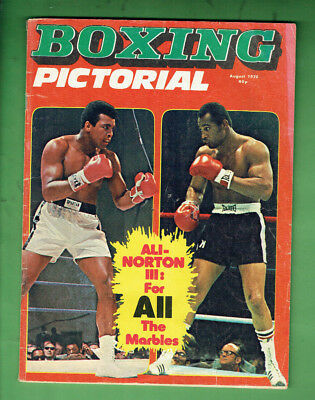 #t86.   Boxing Pictorial Magazine - August 1976, Muhammad Ali