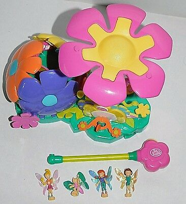 vintage Polly Pocket mini °°°°2001 ^ Flying School - Flower Fairies