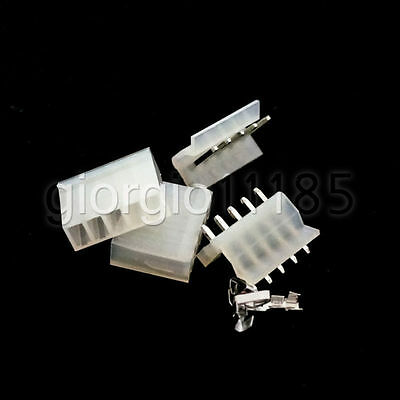 US Stock 10 Pack CH3.96-5P 3.96mm 5 Pin Header & Terminal & Housing Connector