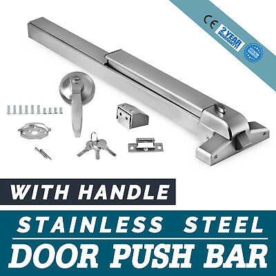 Door Push Bar Handle Panic Exit Device Roller Strike Fire-ProofHardware Latches