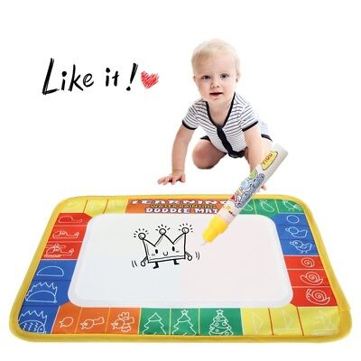 Water Scrawl Mat Drawing Writing Painting Magic Pen Baby Kids Toddler Toys Gifts