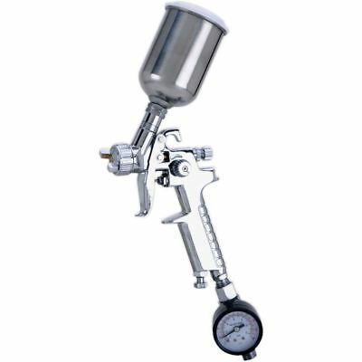 Shop Fox HVLP Mini Spray Gun with .8mm Tip Stainless Steel Cup W1791