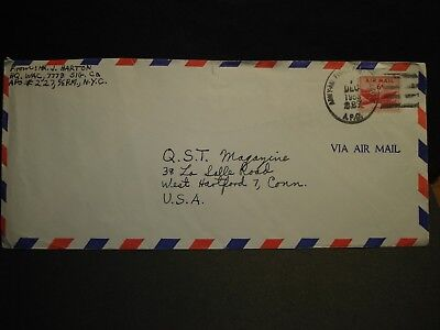 APO 227 KAISERSLAUTERN, GERMANY 1953 Army Air Force Cover WAC 7778 SIG Co