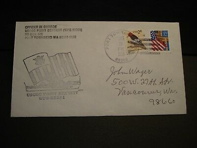 USCGC POINT BENNETT WPB-82351 Naval Cover 1999 Cachet Port Townsend, WA