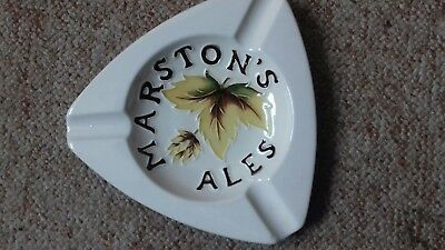 Moorcroft Pottery ashtray Marston's Ales.. Hop leaf design beer brewery