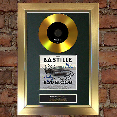 #84 GOLD DISC BASTILLE Bad Blood Album Signed Autograph Mounted Photo Repro A4