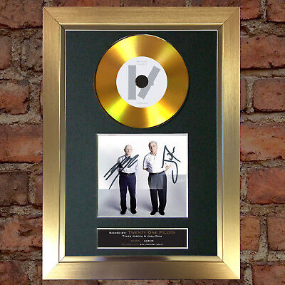 #165 GOLD DISC TWENTY ONE PILOTS Vessel Album Signed Autograph Mounted Repro A4