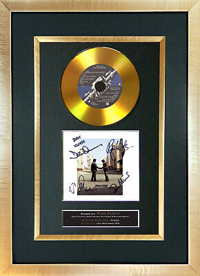 #151 GOLD DISC PINK FLOYD Wish You Were Here Signed Autograph Mounted Repro A4