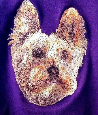 Embroidered Short-Sleeved T-Shirt - Silky Terrier AED16397 Sizes S - XXL