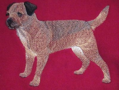 Embroidered Short-Sleeved T-shirt - Border Terrier C4888 Sizes S - XXL