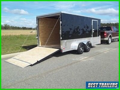 2018 7 x 16 sport package New enclosed cargo motorcycle trailer special 7x16 7ft
