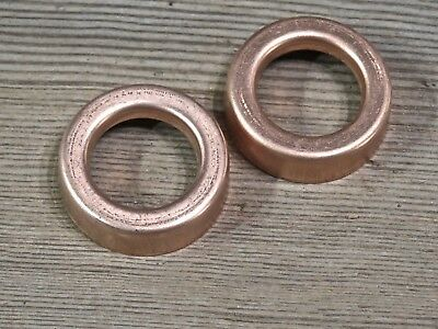 "2 Lightning rod ball end caps 1 3/8"" medium set solid copper new replacement"