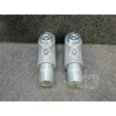 """Box of 2 Eaton EYS316 Crouse-Hinds Conduit 1"""" Sealing Fittings, Malleable Iron"""