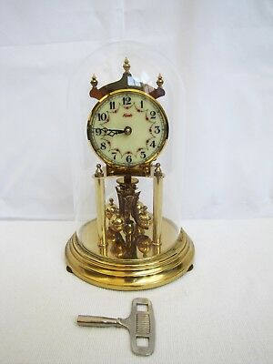 Vintage German Kundo 400 Day Small Anniversary Clock