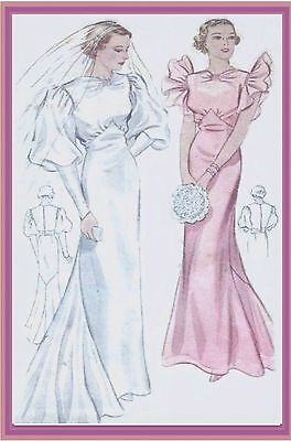 #46 30's Wedding Gown And Evening Gown Pattern