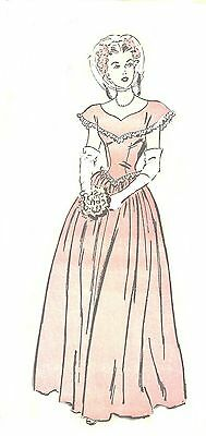 #71 40's War Bride Gown Pattern For All Size Dolls