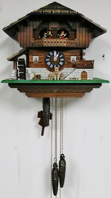 Vintage Carved Black Forest Triple Weight Musical Automaton Cuckoo Wall Clock