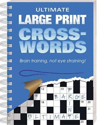 Ultimate Large Print Crosswords: Blue Paperback Book The Fast Free Shipping