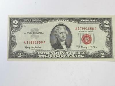 1963 A Red Seal Two Dollar United States Notes Crispy Uncirculated No Folds