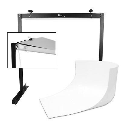 LED Lighting Kit with Seamless White Background for Photography and Photo Shoot
