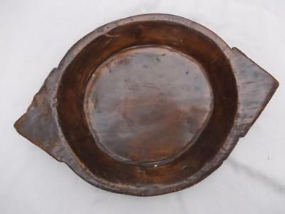 373 / Very Large Late 19Th Century Hand Carved Wooden Bowl 61Cm In Length