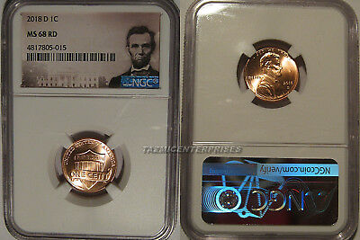2018 D Lincoln SHIELD Cent 1c NGC MS 68 RD Lincoln Label