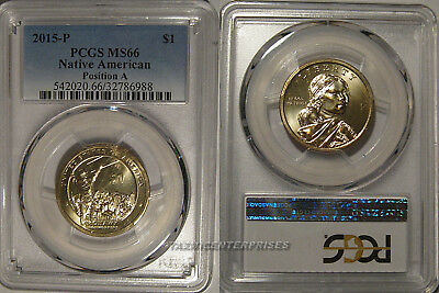 PCGS MS66 2015-D Sacagawea Native American Mohawk Iron Workers Dollar Position A