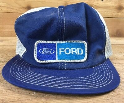 Ford Motor Co.- Vintage Blue Hat Patch Advertising Collectible Truck Tractor Car