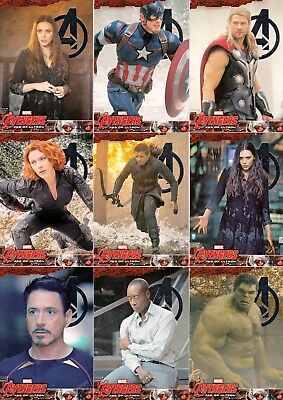 The Avengers Age Of Ultron Movie Silver Foil Parallel Card Set Of 90 Marvel Base
