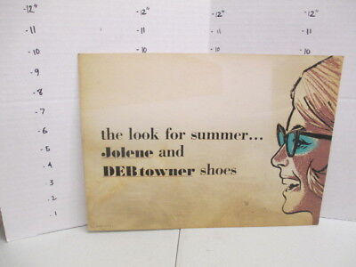 JOLENE DEB TOWNER SHOES 1960s store display sign women's clothing sunglasses