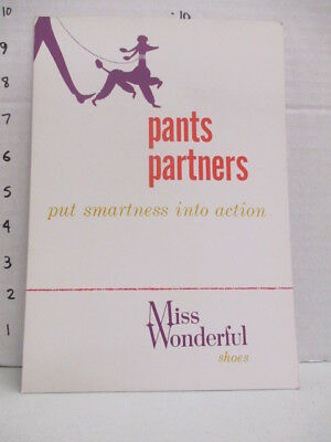 MISS WONDERFUL SHOES 1960s store display sign women's clothing poodle PANTS