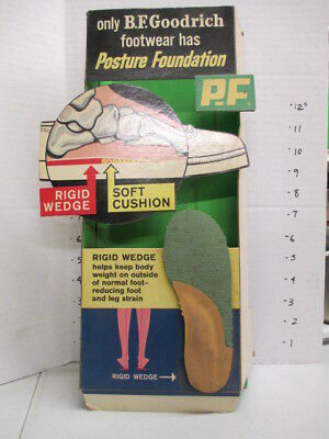 PF P.F. FLYERS foot skeleton 1960s tennis shoe store display sign B.F. Goodrich