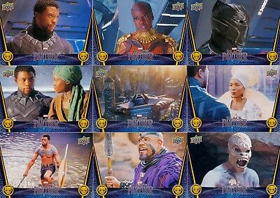 Black Panther Movie 2018 Upper Deck Complete Base Card Set Of 90 Marvel