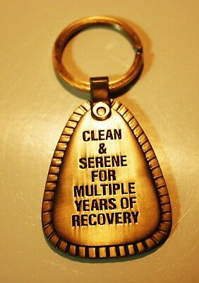 N.a. Metal Key Chain Multiple Years Gold Tone Narcotics Anonymous