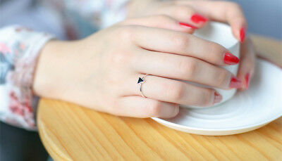 Alcoholics Anonymous New Ladies dainty pinky S. 5.5   AA Ring Sterling  .925