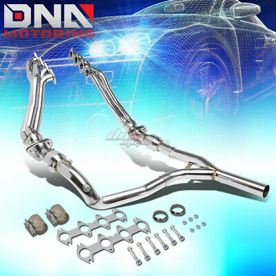 """For 04-10 F150 4Wd 2.5"""" 4-1 Long Tube Exhaust Header Manifold+Resonators+Y-Pipe"""