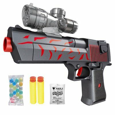 Water Gel Ball Gun Pistol Blaster Soft Crystal Bullet Kids Children Toy Game TU