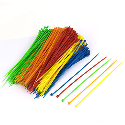3mm x 200mm Network Cable Cord Wire Nylon Zip Ties Assorted Colors 500pcs