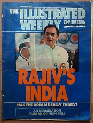 The Illustrated Weekly of India 20 April 1986 Rajiv's India