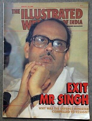 The Illustrated Weekly of India 19 April 1987 V.P. Exit MR Singh