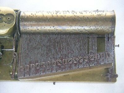 Swiss Walzenspieluhr Sectional Comb Cylinder Music Box Movement Tabatiere Early