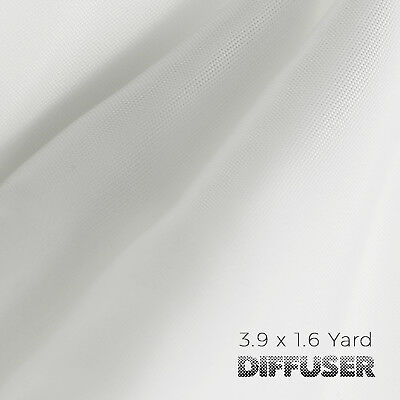 3.9 x 1.6 Yard Seamless White Photography Diffusion Fabric, DIY Softbox Lighting