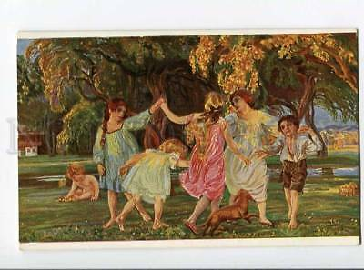 264755 AUTUMN Dance Kids DACHSHUND by KUITHAN Vintage JUGEND