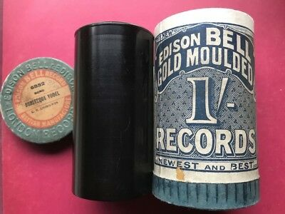 Music Hall Star G.h. Chirgwin - 'Burlesque Yodel' 1906 Edison Bell Cylinder Obl
