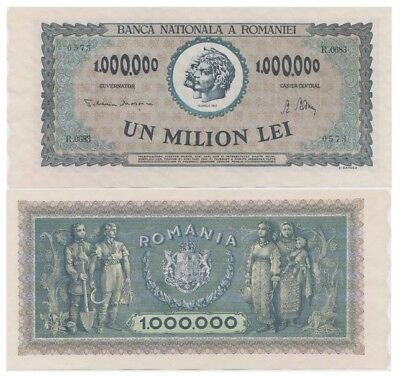 One Million Lei Romanian banknote issued in 16.04.1947 R aunc