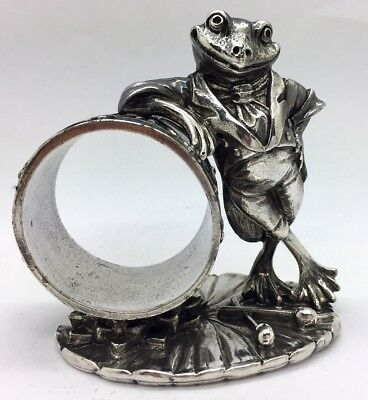 Reed & Barton 1824 COLLECTION SILVERPLATE FROG Napkin Ring NR!!!!!!
