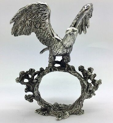 Reed & Barton 1824 COLLECTION SILVERPLATE EAGLE Napkin Ring NR!!!!!!